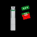 Рукоять ларингоскопа KaWe Ф.О. средняя d=28 мм. 3,5 V LED  повышенной яркости (Li-Ion аккумулятор в комплекте)